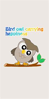 幸せを運ぶ鳥ふくろう