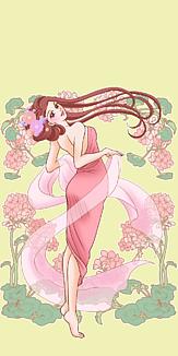 花と女性2