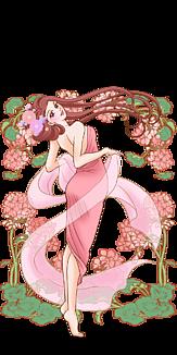 花と女性1