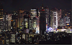 ビル群の夜景