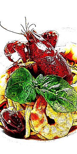 スパゲッティ ザリガニ