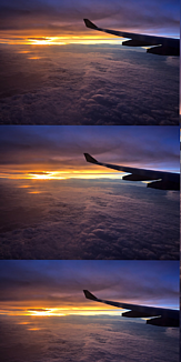 雲上からのサンセット