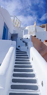 サントリーニ、天国への階段