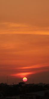 バンコクの夕日