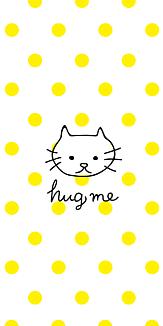 Hugmeねこイエローdot