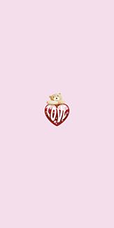 LOVE Heart Bear ピンク