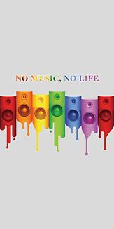 NO MUSIC, NO LIFE グレー