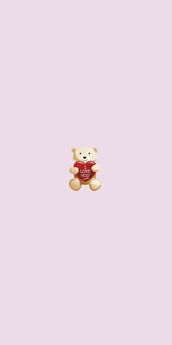 I love you bear 薄ピンク