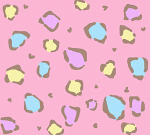 ヒョウ柄×パステル色