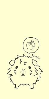 リンゴがほしいモルモット