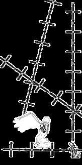 骸骨と十字架(クリア)