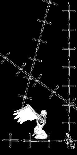 骸骨と十字架(ブラック)