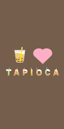 I♥TAPIOKA ブラウン