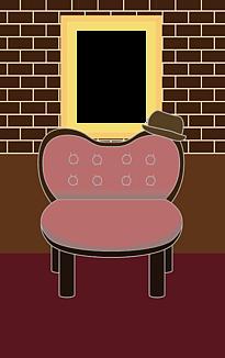 椅子と額縁