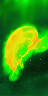 宇宙を創るクラゲ:緑