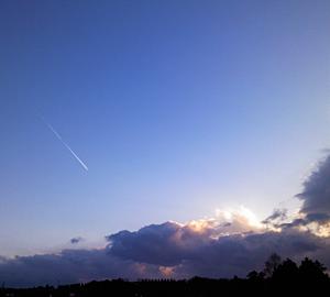 空と飛行機雲(青):手帳
