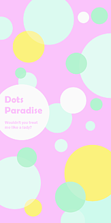 Dots Paradise ピンク