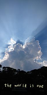 雲の隙間からの光
