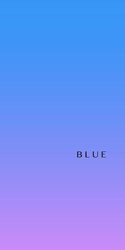 blue   青