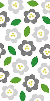 花と葉っぱ(グレーver.)