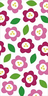 花と葉っぱ(ピンクver.)