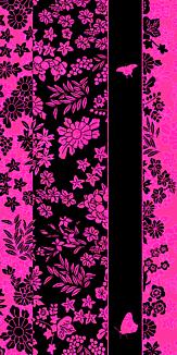 和柄と蝶/ピンク