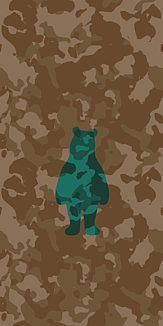 camouflage bear - 3