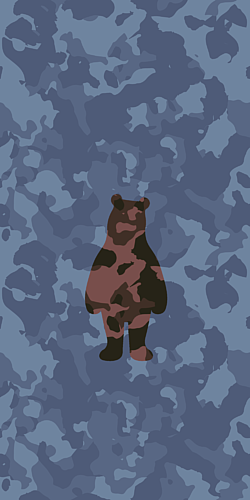 camouflage bear - 2