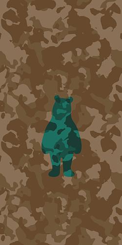 camouflage bear - 3
