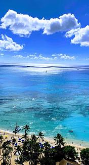 広がる海と空
