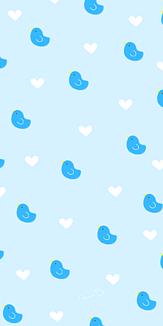 青い鳥&ハート ブルー