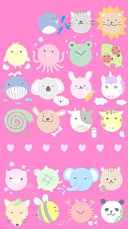 かわいい動物大集合!ピンク