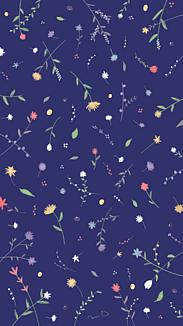 小花柄 紺