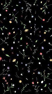 小花柄 黒
