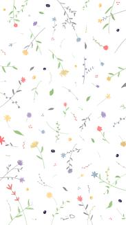 小花柄 クリア