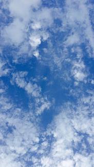 南の穏やかな青空