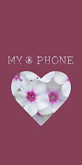 Flowerハート くすみピンク×ホワイト