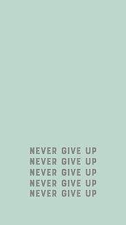 NEVER GIVE UP 文字入り