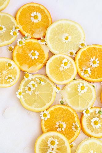フレッシュオレンジ(花柄)