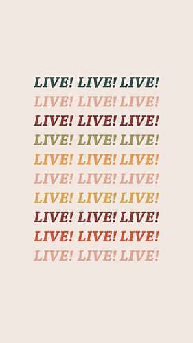 LIVE 文字 カラフル