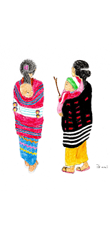 ナガ族の親子