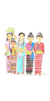 民族衣装の女の子