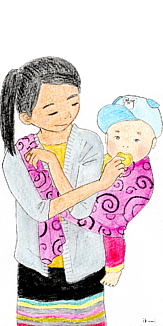 ミャンマーの親子2