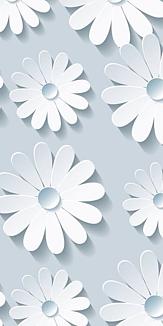 花 ホワイト&グレー