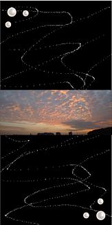 秋の夕暮れ~うろこ雲色染めて~