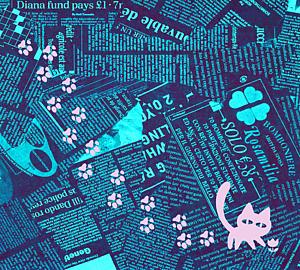 猫の足跡デニム