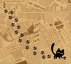 猫の足跡黒