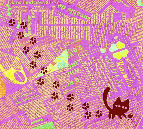 猫の足跡紫