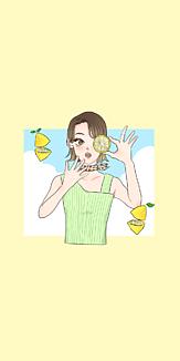 果物と女の子シリーズ(レモン)