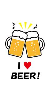 ビールで乾杯♪ 白